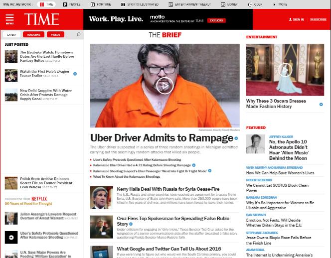 web design trends 2016 TIME hamburger menu