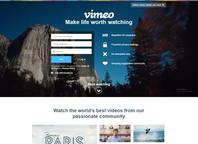 web design trends 2016 video header