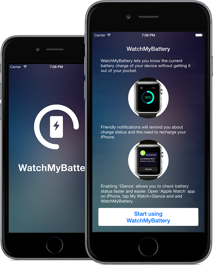 WatchMyBattery_iPhone app