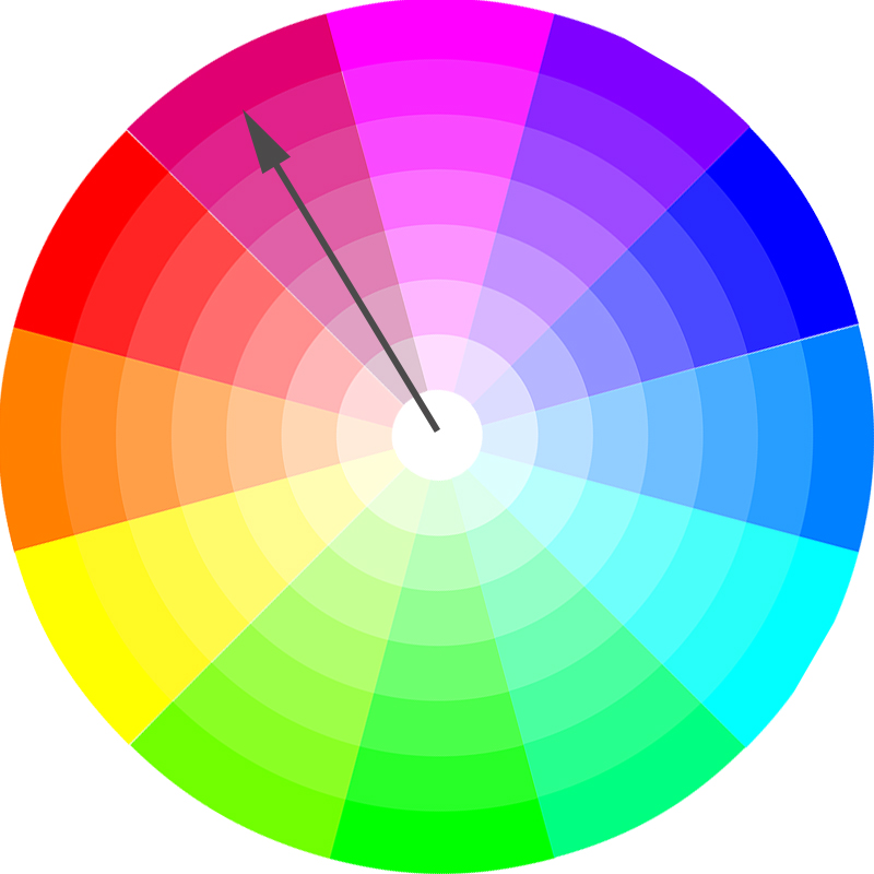 color wheel monochromatic scheme