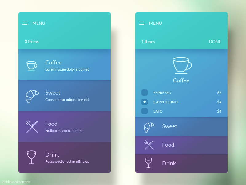 mobile app design analogous color scheme