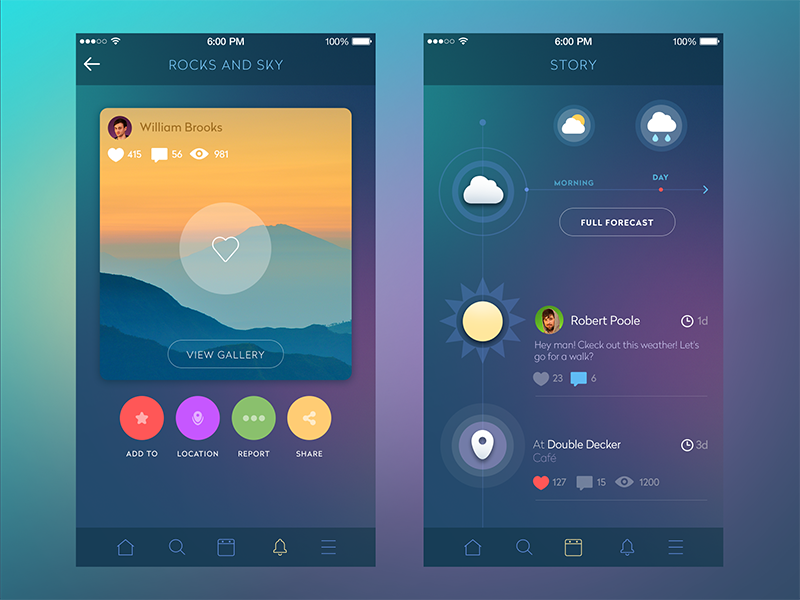 how to create a app layout scheme