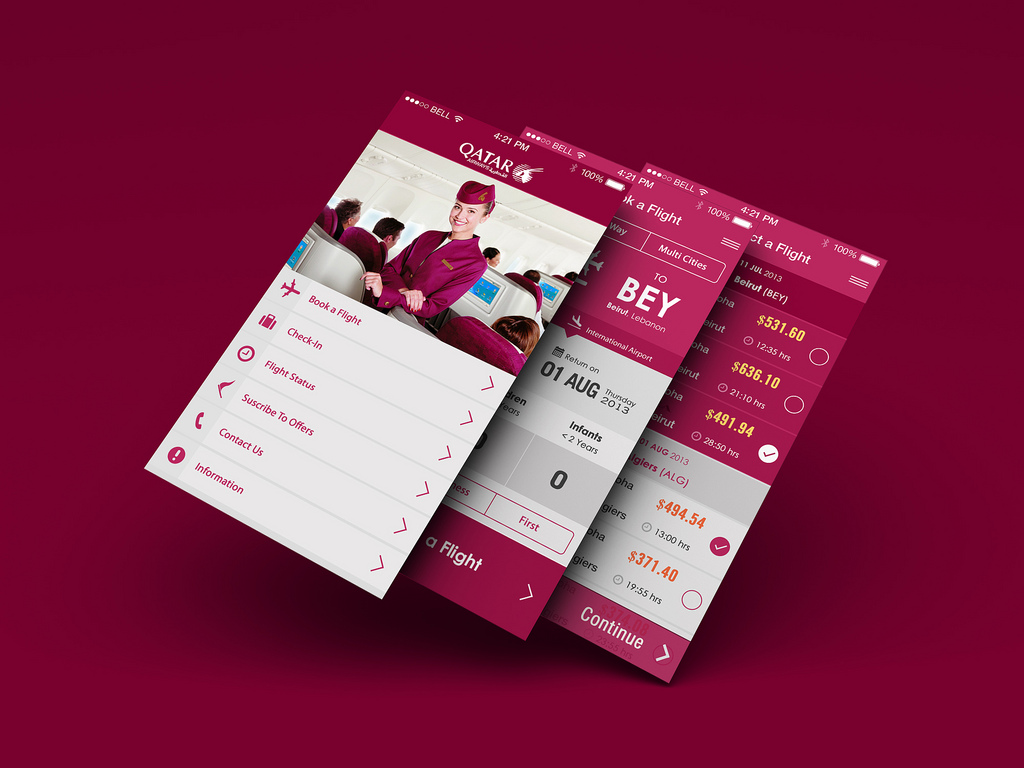 mobile app design monochromatic color scheme