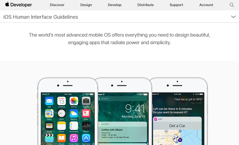 best ios developers ios human interface guidelines
